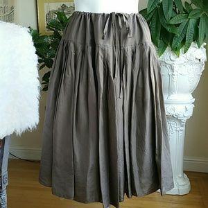 Anthropology Odille silk skirt size Medium